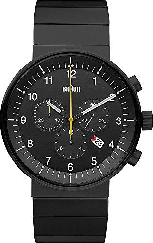 Braun BN0095BKBKBTG - Reloj analógico unisex de acero inoxidable negro