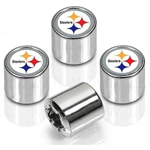 Pittsburgh Steelers Valve Stem Caps 4-Pack (Steeler Tire Covers compare prices)