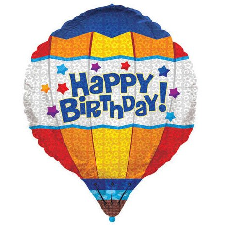 28 Inch Hot Air Birthday Balloon 3D Balloon - 1