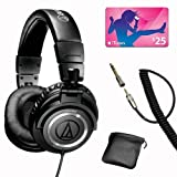 Audio-Technica ATH-M50 Studio Reference Headphones (Coiled Wire) w$25.00 iTunes Card