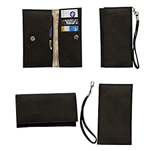 Jo Jo A5 G8 Leather Wallet Universal Pouch Cover Case For Lenovo S720 Dark Brown