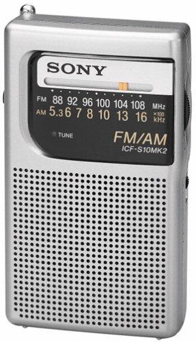 Sony Icf-S10Mk2 Pocket Am/Fm Radio, Silver front-632141