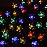Innoo Tech 50 LED Solar Outdoor String Lights Fairy RGB Blossom Decorative Christmas,Garden,Patio,Indoor,Party,Holiday