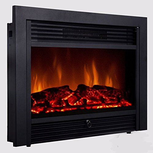 28.5 inch Embedded Fireplace Electric Insert Heater Glass View Log Flame Remote Home (32 Electric Fireplace compare prices)
