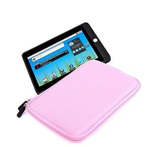 DURAGADGET Splash And Impact Resistant Pink Neoprene EVA Carry Case For Kogan Agora, Dell Streak 7, Gemini JoyTab & Gemini Duo 7-inch Tablet (ARM Cortex A9 1.5GHz Processor, 1GB RAM, 8GB Storage, WiFi, Camera, Android 4.1)