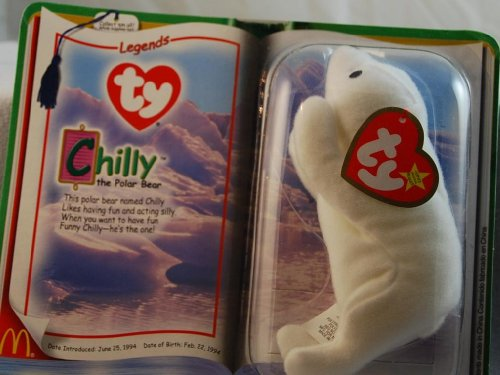 Ty Teenie Beanie Babies 2000 - White Chilly the Polar Bear (Legends) - 1