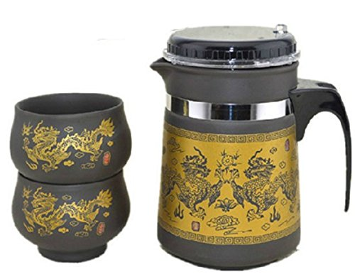 Chariot Trading - Ceramic purple elegant kung fu tea pot cup chinese tea
