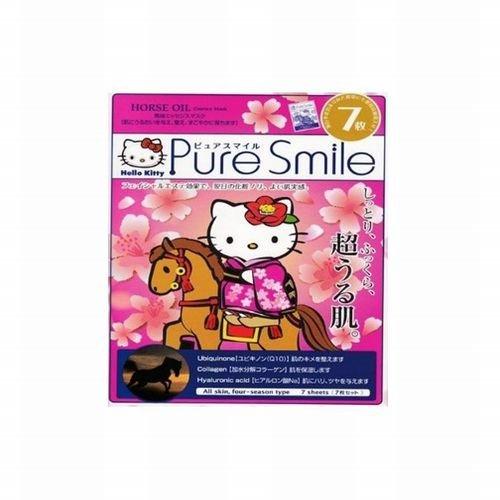 Hello Kitty ピュアスマイル 馬油エッセンスマスク 7枚セット KTS04
