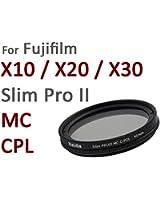 Nouveau: Filtre Polarisant Circulaire Pro II MC (couché multicouche) spéciale 40mm pour Fuji X10 / X20 / X30