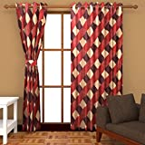 Ab home decor Polyester Window Curtains (Set of 2)- 5 Feet x 4 Feet,Multi-Color