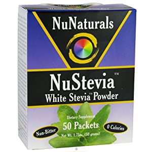 NuNaturals - NuStevia White Stevia Powder - 50 Packet(s)