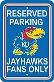 NCAA Kansas Jayhawks 12-by-18 inch Plastic Parking Sign