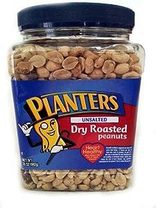 Planters Unsalted Dry Roasted Peanuts 35 oz.