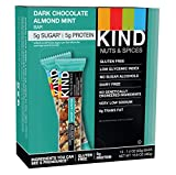 KIND Nuts and Spices Bars, Dark Chocolate Almond Mint, 1.4 Ounce, 12 Count