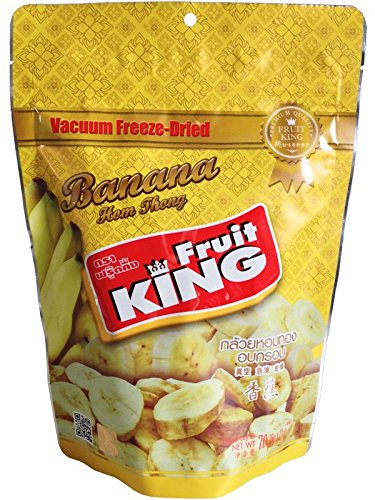 Fruit King Banana Chips,Vacuum Freeze Dried Fruit 70g. (Freeze Dried Chicken Honeyville compare prices)