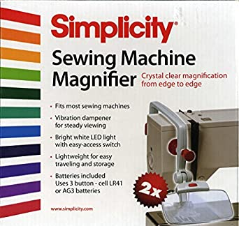 simplicity sewing machine magnifier