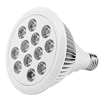 LED Plant Grow Light,THZY 12W LED Plant Grow Light For Hydroponic Garden Greenhouse(E27, 3 Bands)