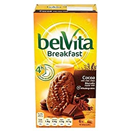 Belvita Breakfast Biscuits - Cocoa with Choc Chips (6x50g) - Pack of 2
