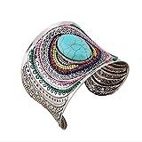 Yuriao Jewelry Fashion Individuality Cuff Bracelet£¨blue£©