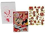 großes Malbuch / Malblock A 4 mit 25 Stickern - Disney Minnie Mouse Herzen Mickey - Malvorlagen Aufkleber Malbücher Maus von Kinderland