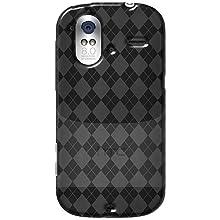 Amzer 92547 Luxe Argyle High Gloss TPU Soft Gel Skin Case - Smoke Grey For HTC Amaze 4G