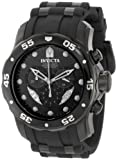 Invicta Mens 6986 Pro Diver Collection Chronograph Black Dial Black Polyurethane Watch