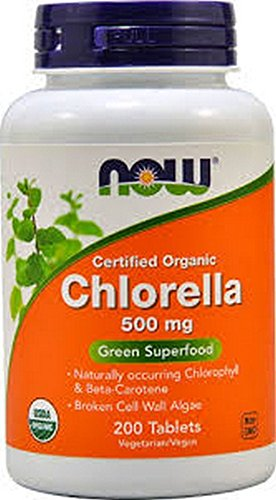 NOW Foods Organic Chlorella 500mg  200 Tablets