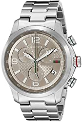 """Gucci Men's YA126248 """"Gucci G-Timeless"""" Stainless Steel Watch"""