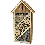 Gardirect Natural Insect Hotel, Bee and Butterfly House, Large Size, 14-3/4-inch Tall