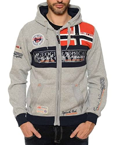 Geographical Norway Sudadera con Cierre Flyer Gris