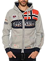 Geographical Norway Sudadera con Cierre Flyer (Gris)