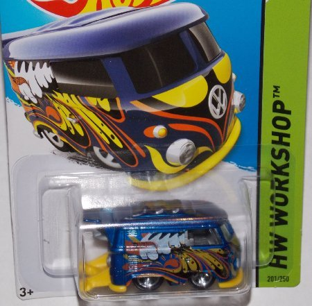 2014 Hot Wheels Blue Volkswagen Kool Kombi 201/250 HW WORKSHOP HW Garage - 1