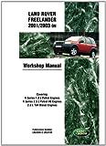 Land Rover Freelander Manual 2001/2003 (Brooklands)