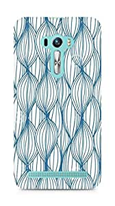Amez designer printed 3d premium high quality back case cover for Asus Zenfone Selfie (Abstract seamless pattern lines)