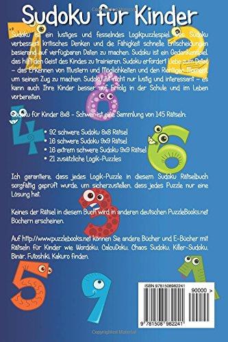 Sudoku für Kinder 8x8 - Schwer - Band 6 - 145 Rätsel: Volume 6