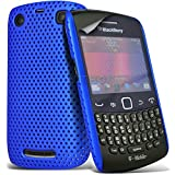 Blackberry 9360 Bold Blue Fitted Mesh Net Hard Back Case Cover Skin By Spyrox