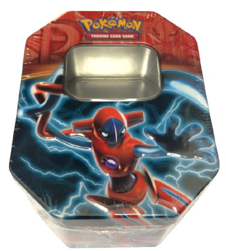 Empty Deoxys Tin for Pokemon Trading Card Storage (Metallic, Two-Piece, Shrink-Wrapped) - 1