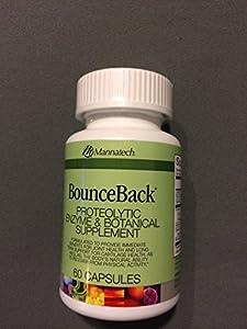 Mannatech Bounceback Proteolytic Enzyme & Botanical Supplement 60 Capsules
