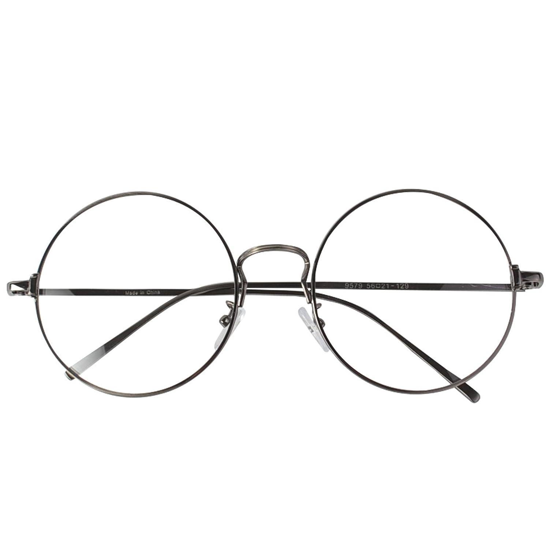 curvy's(カービーズ)_(カービーズ) curvy's 眼鏡 ビッグ丸メガネ シルバー_通販_Amazon|アマゾン