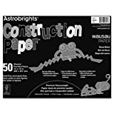Astrobrights Construction Paper, 72-lb., 12 x 18, Raven Black, 50 Sheets/Pack, Sold as One Pack