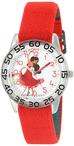 Disney Girl's 'Elena of Avalor' Quartz Plastic and Nylon Automatic Watch, Color:Red (Model: W003024)