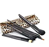 Max Maxi Professional 12 Pcs Makeup Cosmetics Brushes Set Kits With Leopard Pattern Case Flawless Makeup Application