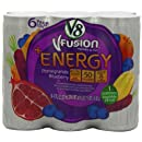 V8 V-Fusion Pomegranate Blueberry Energy Drink, 8 Fl Oz Cans (Pack of 24)