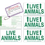 Live Animal Label Set of 5