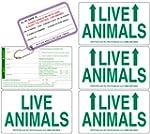 Live Animal Label Set of 5