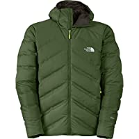The North Face FuseForm Dot Matrix Hooded Down Mens Jacket - Scallion Green Tri Matrix