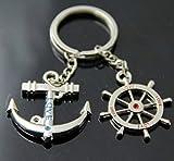 "Liroyal Couple Keychain Keyring --- ""I Love You"" Heart + Key --- Lover Sweetheart Gift for Valentines Day / Wedding Anniversary / Birthda(1 pair)"