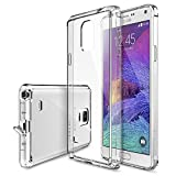 Galaxy Note 4 Case - Ringke FUSION Case [Free HD Film/Dust Cap&Drop Protection][CRYSTAL VIEW] Shock Absorption Bumper Premium Hard Case for Samsung Galaxy Note 4 (All Carriers - Verizon, AT&T, Sprint, T-Mobile, International, and Unlocked) - Eco/DIY Package