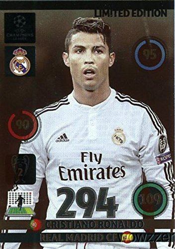 2014/2015 Panini Adrenalyn Champions League EXCLUSIVE Cristiano Ronaldo Limited Edition MINT! Rare Card Imported from Europe !