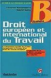 echange, troc Bassompierre, Guery - Droit européen et international du travail